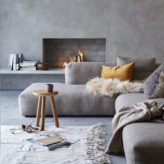 Γκρι λευκό καναπές